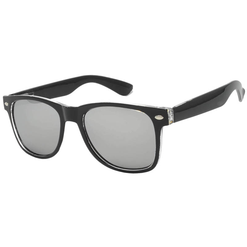 2tone frame sunglasses black mirror lens