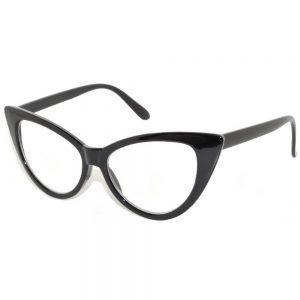 994f5a6ac68 OWL ® Eyewear Wholesale Cat Eye Sunglasses Black Frame Clear Lens One Dozen