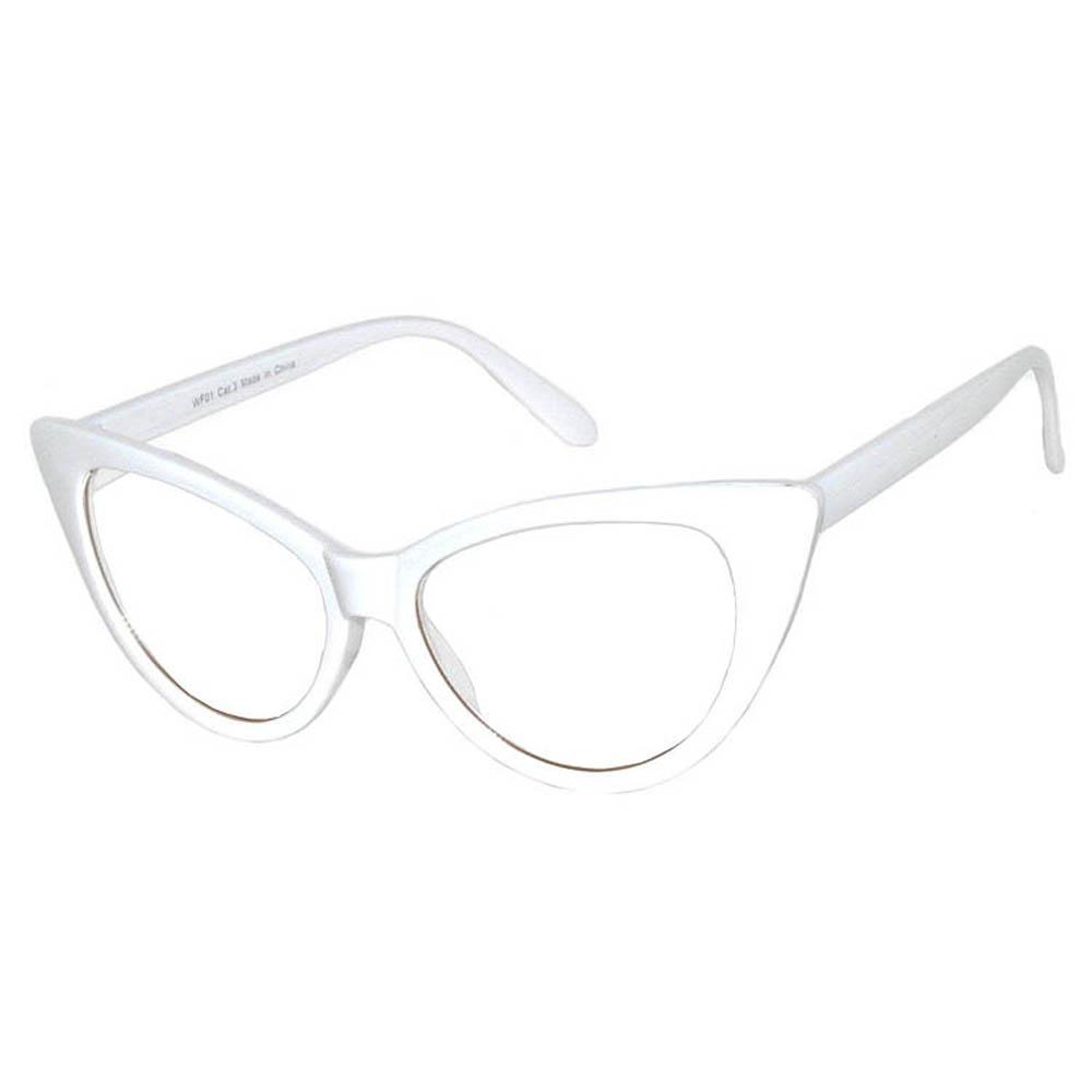 7cb2f80aa9 OWL ® Eyewear Cat Eye Sunglasses White Frame Clear Lens (One Pair)