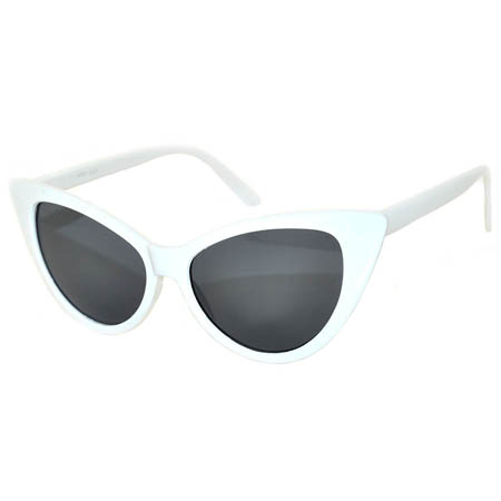 001548ad8e7107 OWL ® Eyewear Wholesale Cat Eye Sunglasses White Frame Smoke Lens ...
