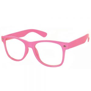 1 Pair of Sunglasses Clear Lens Pink