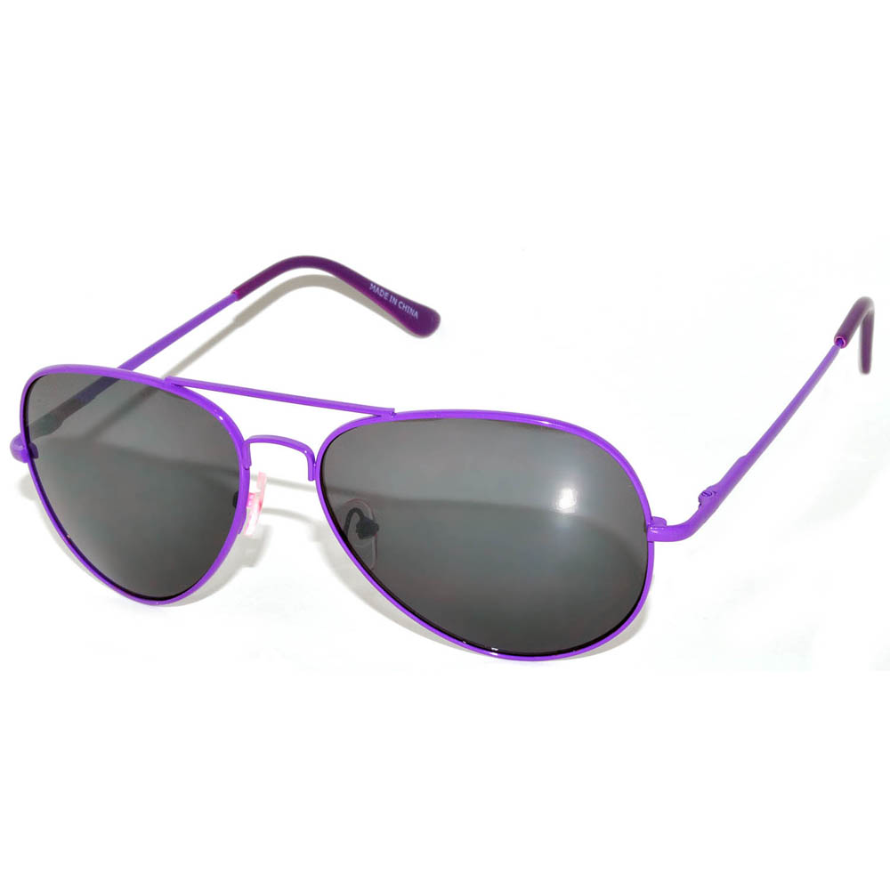 Eyewear Smoke Spring Lens Owl Sunglasses ® 12 Hinges Frame Aviator Pcs Purple wmnvON80