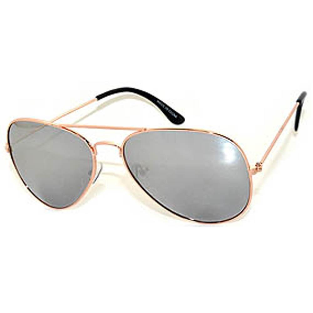 f04bb3996 OWL ® Eyewear Aviator Sunglasses Gold Frame Mirror Silver Lens One Dozen