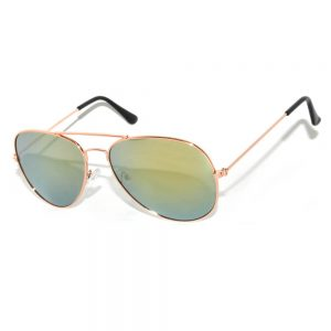 Aviator Sunglasses Gold Frame Mirror Yellow Lens Wholesale