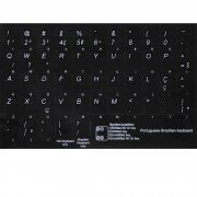 Brazilian Portuguese keyboard stickers non transparent black