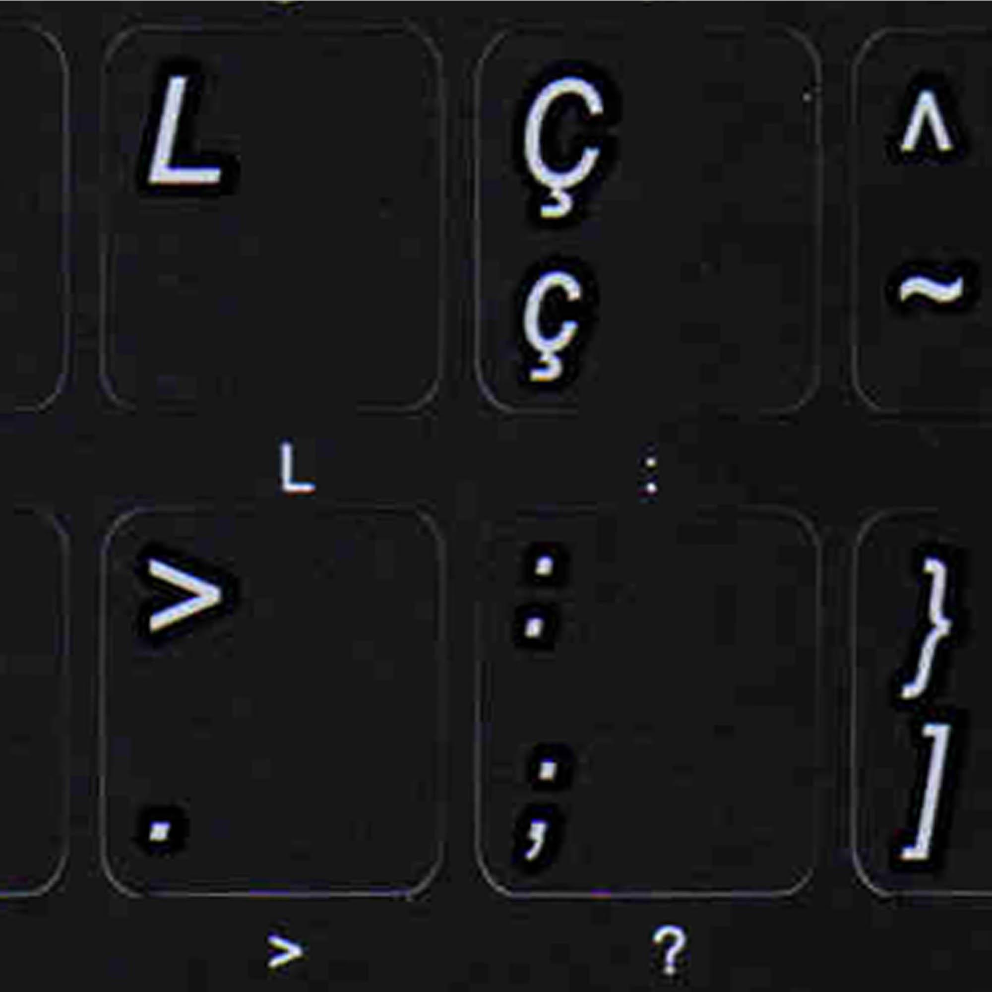 Brazilian Portuguese keyboard stickers non transparent black