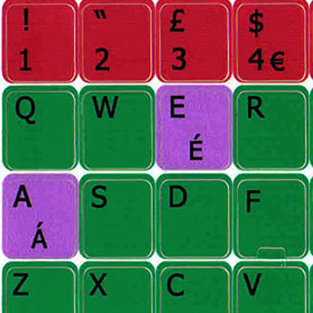 English Uk Learning Colored Pc Keyboard Sticker Online Welcome