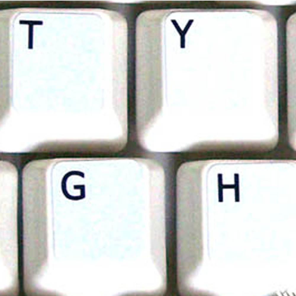Danish key labels for keyboard white non transparent for windows PC