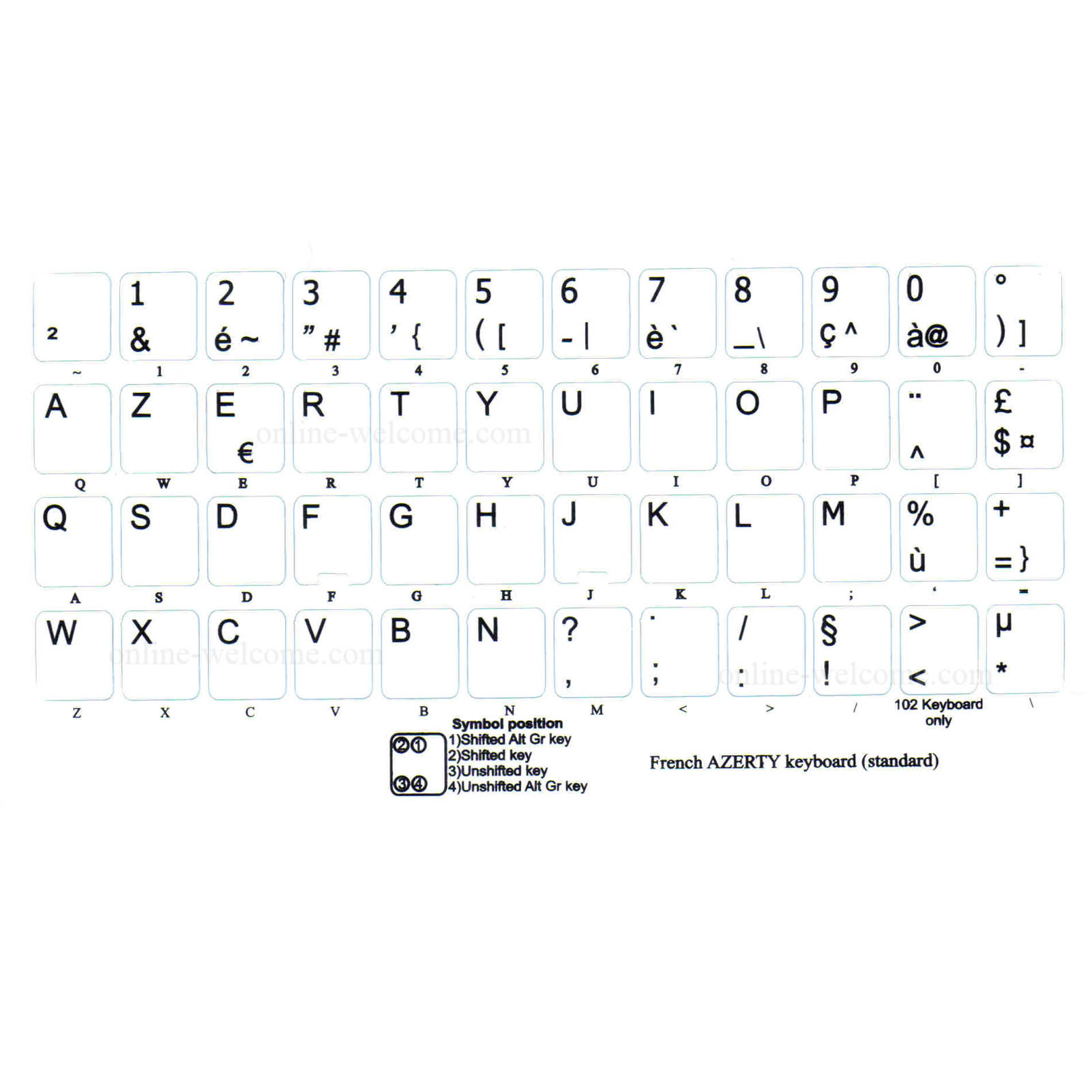 French azerty stickers keyboard black letters transparent background french azerty stickers black letters transparent background spiritdancerdesigns Choice Image