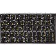 German-Arabic keyboard sticker black
