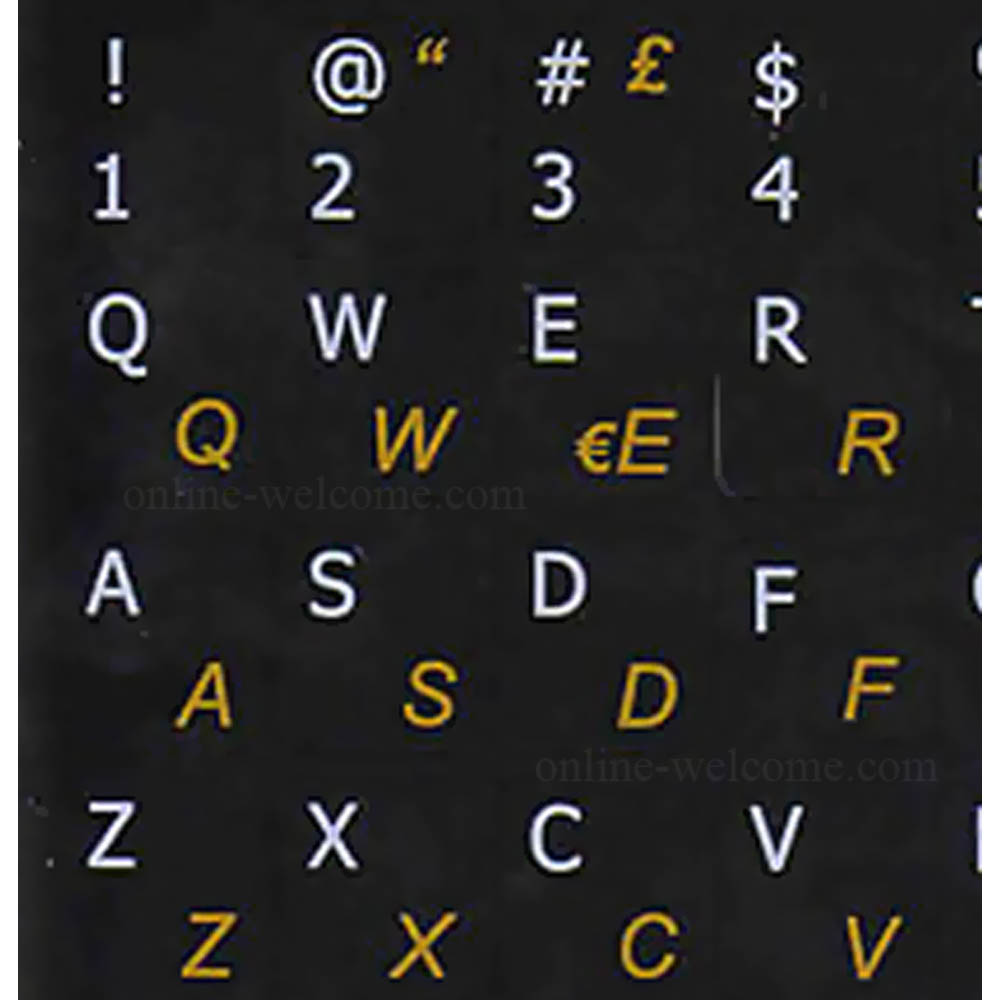 Italian-English Keyboard sticker black