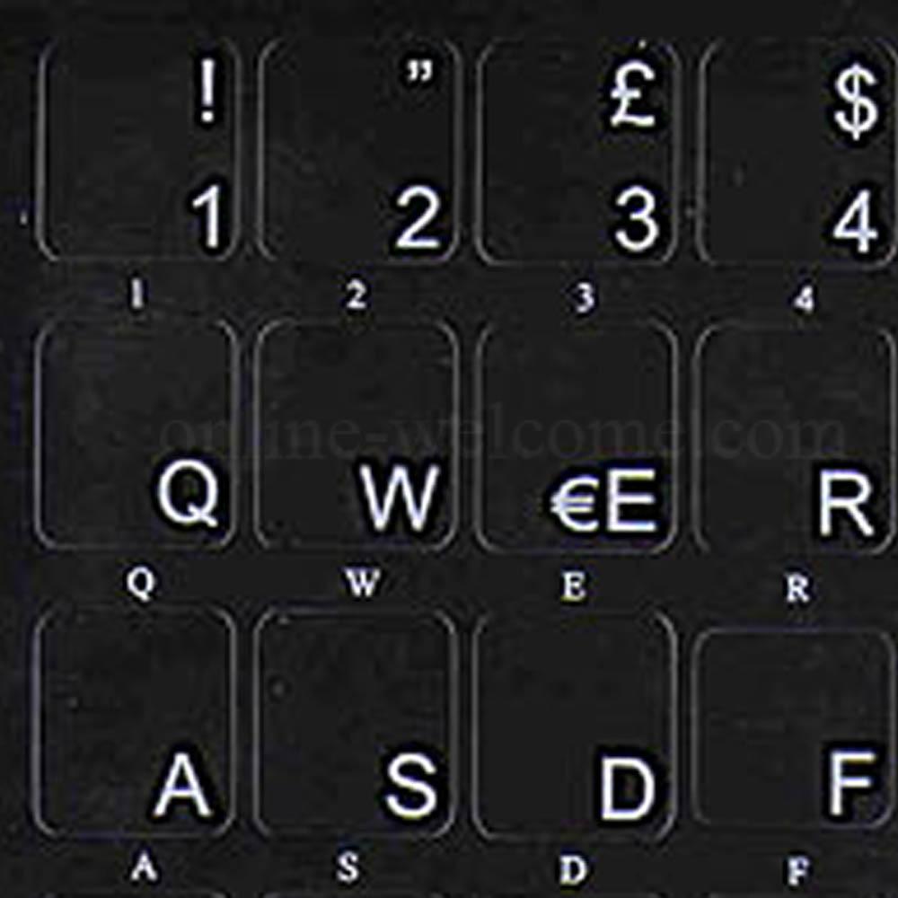 Italian keyboard sticker non transparent black