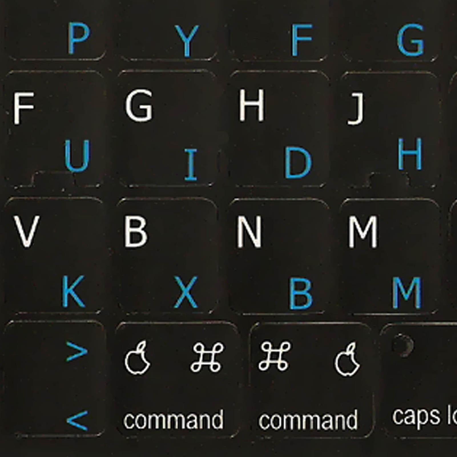 Dvorak-English for Mac keyboard labels black