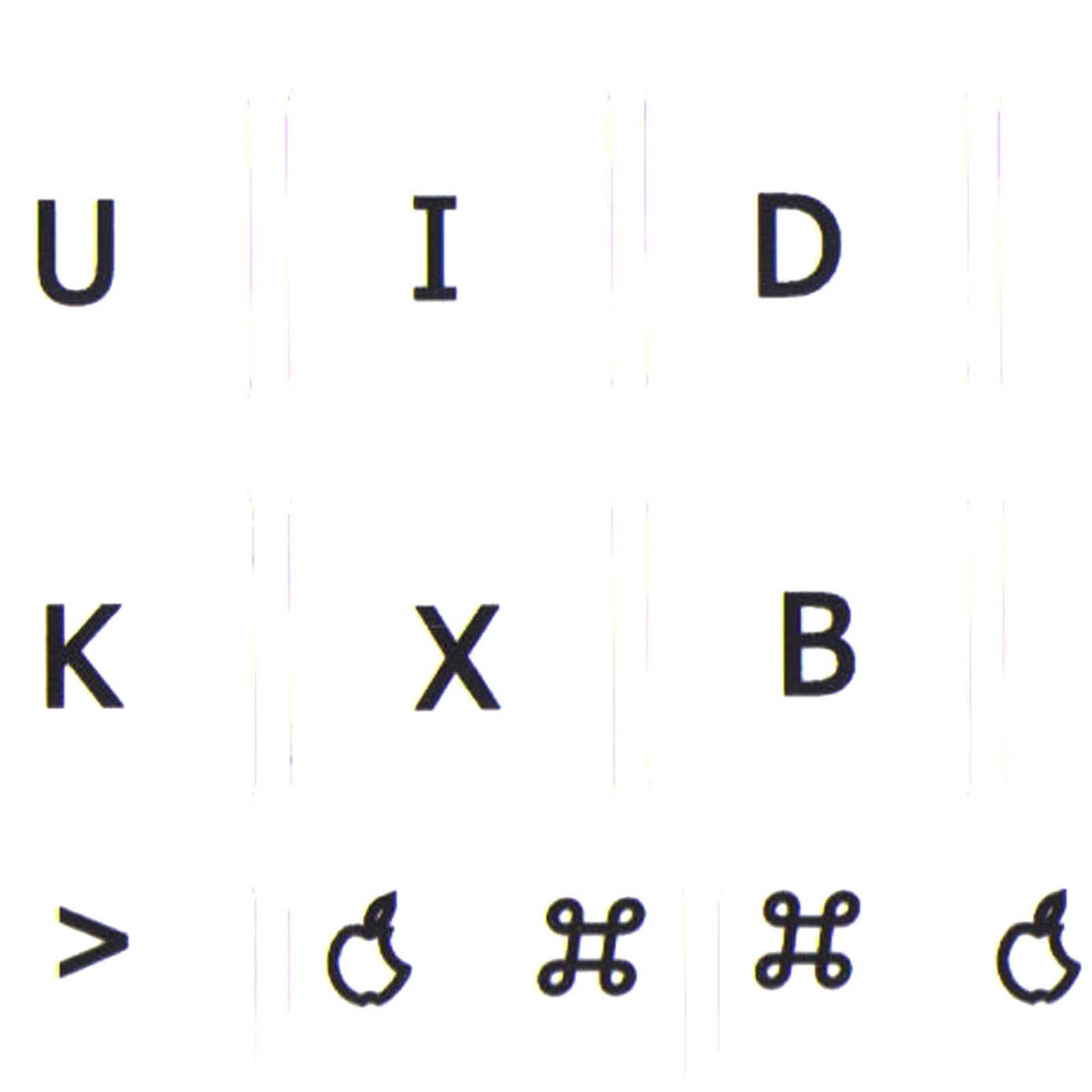 mac Dvorak keyboard stickers white