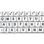Mac English Keyboard stickers non transparent large letters white