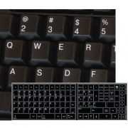 Replacement key english us keyboard stickers black
