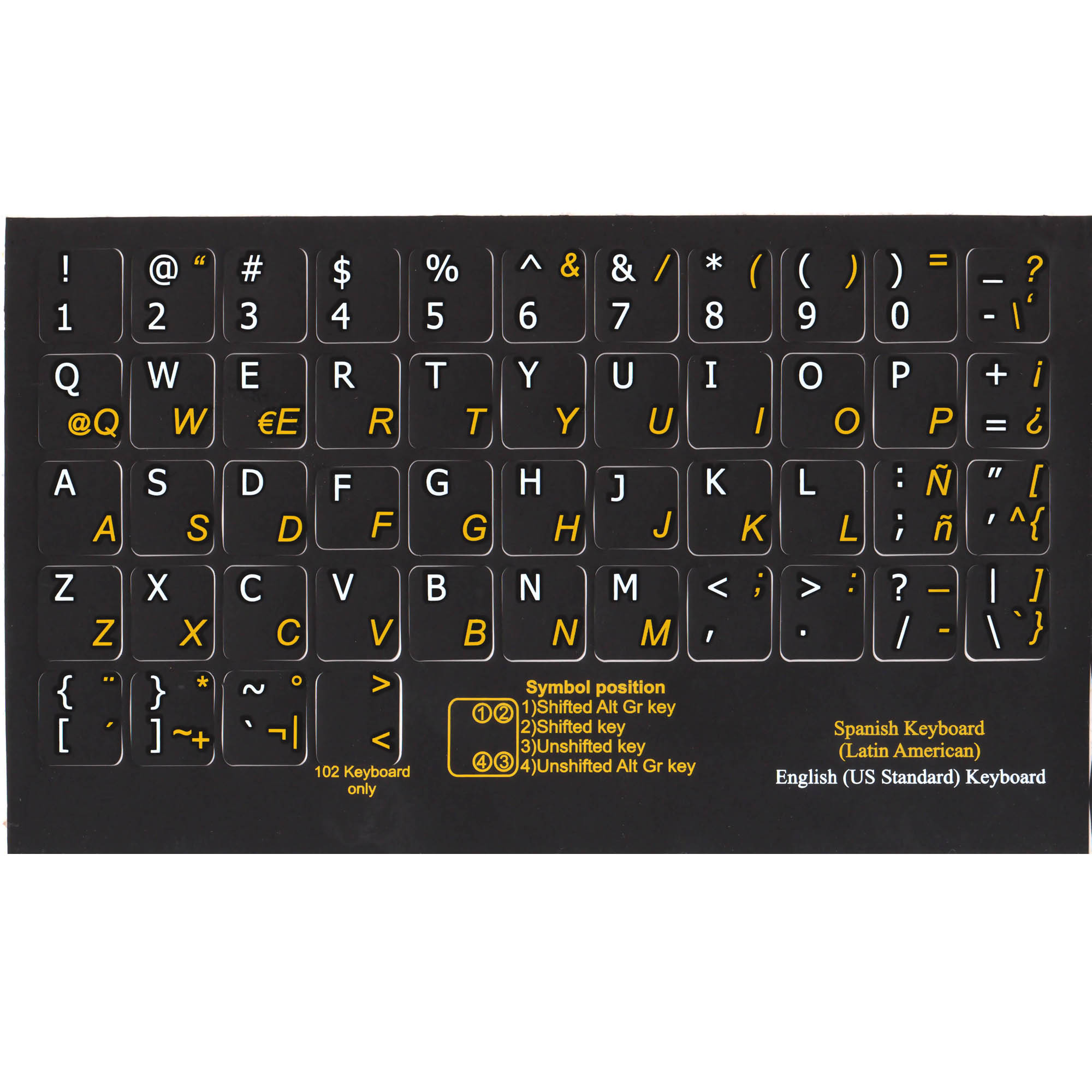 Spanish latin american english keyboard sticker black pc online spanish latin american english keyboard labels black buy now biocorpaavc Image collections