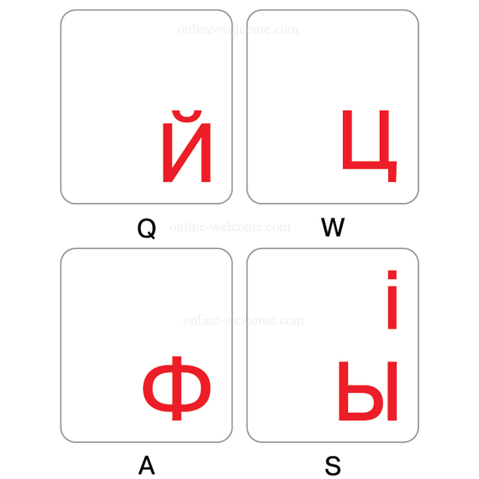 Ukrainian-Russian-keyboard-sticker-red-letters