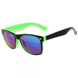 Sunglasses Two Tone Mirror Green Lens (12 PCS)