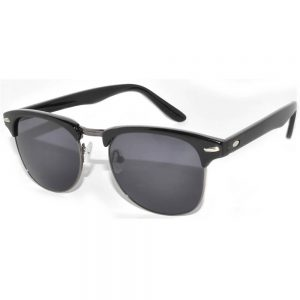Half Frame Sunglasses Black Gun Frame Smoke Lens One Dozen