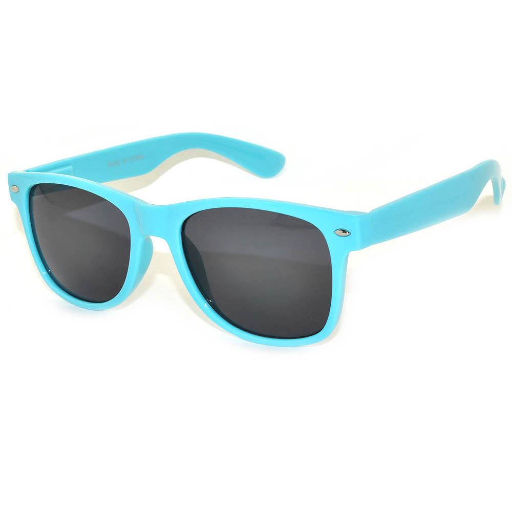Owl Eyewear Retro Sungles Smoke Lens Light Blue Frame