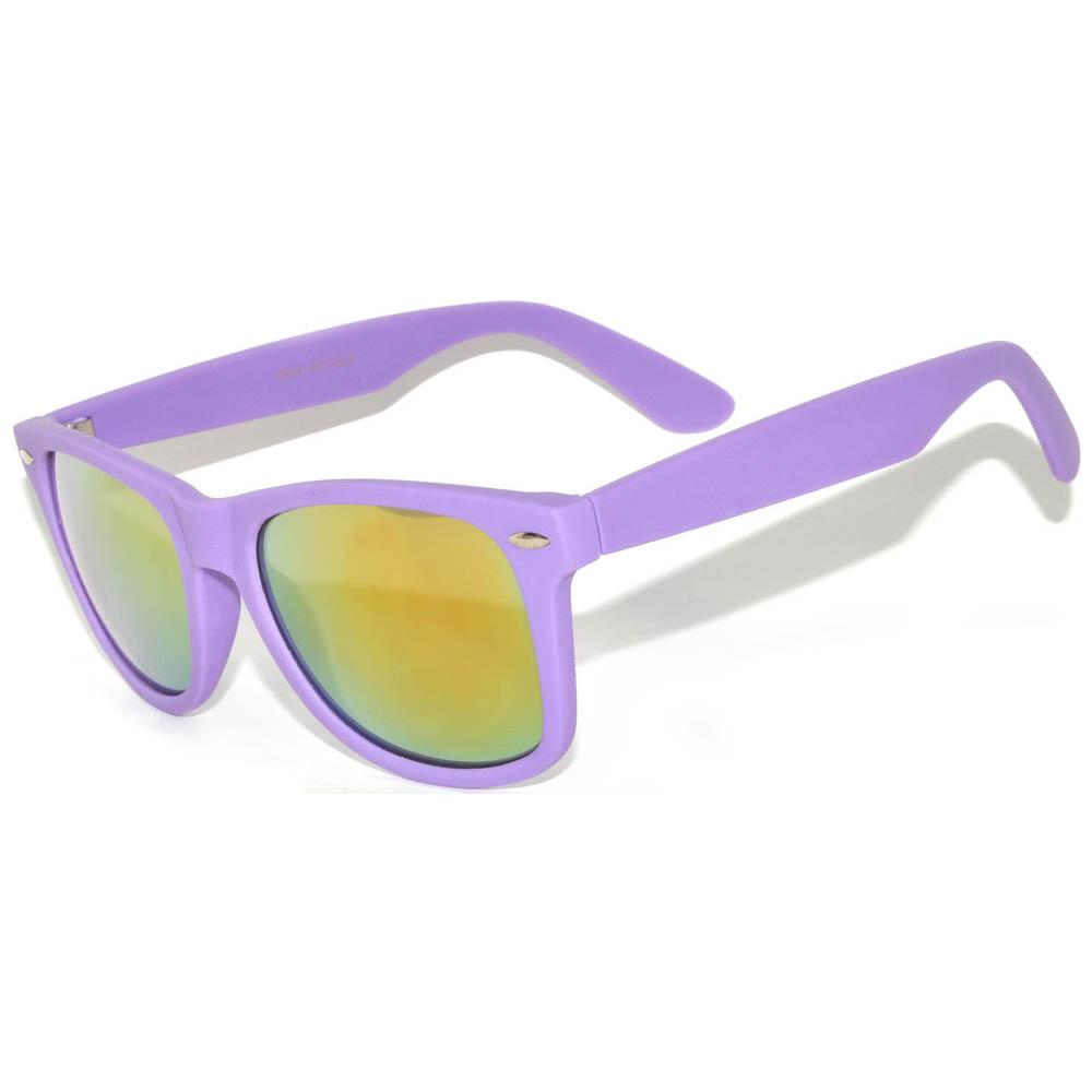 dc2cb3cae5 OWL ® Eyewear Retro Sunglasses Mirror Lens Purple Matte Frame (One Pair)