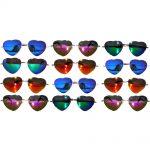 Sunglasses Heart Women's Metal Silver/Gold Frame Mix Mirror Lens