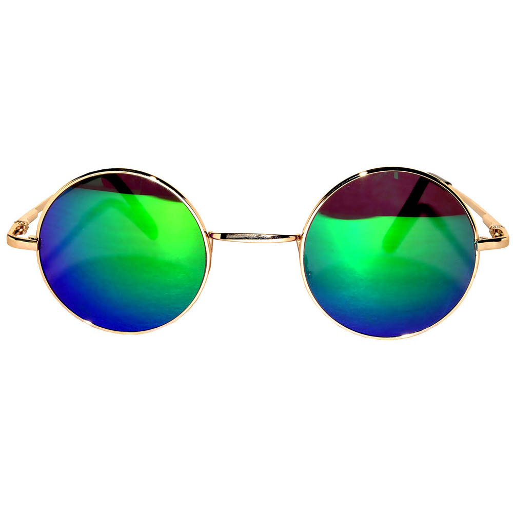 ... Sunglasses 43mm Women s Metal Round Vintage Gold Frame Blue Green  Mirror Lens ... 25d38fa4ba