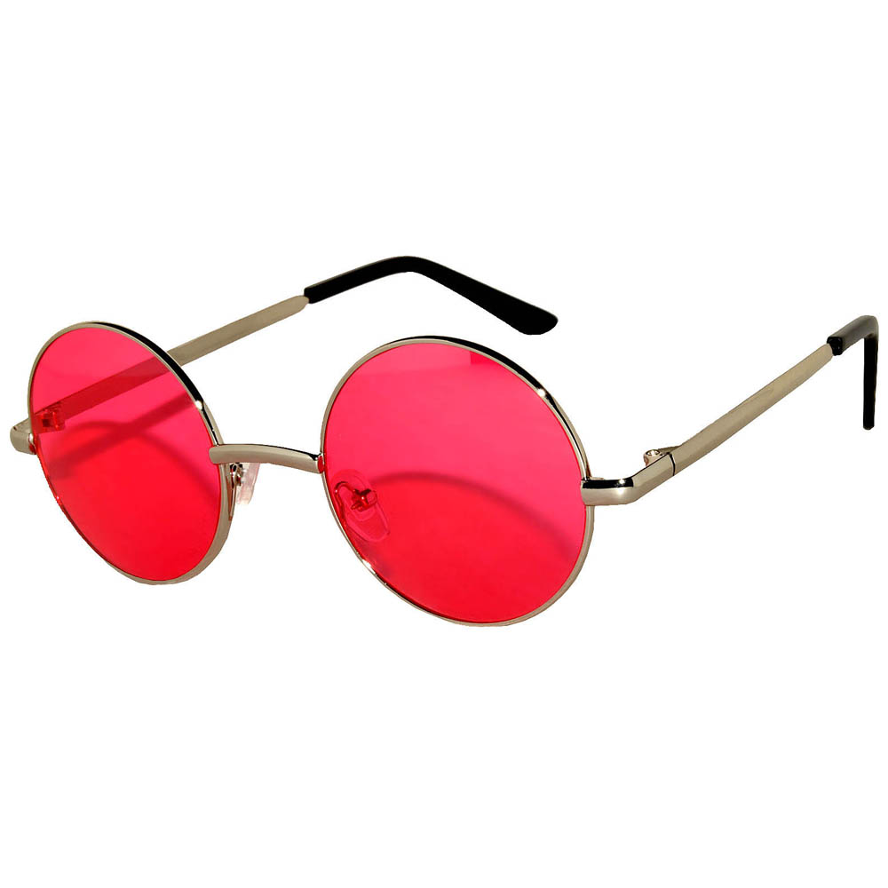 779f104e0a08 OWL ® Eyewear Sunglasses 43mm Metal Gold Frame Round Circle Red Lens ...