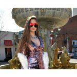 OWL ® Eyewear Sunglasses 86012 C4 Women's Metal Fashion Gold Frame Fire Mirror Lens One Pair