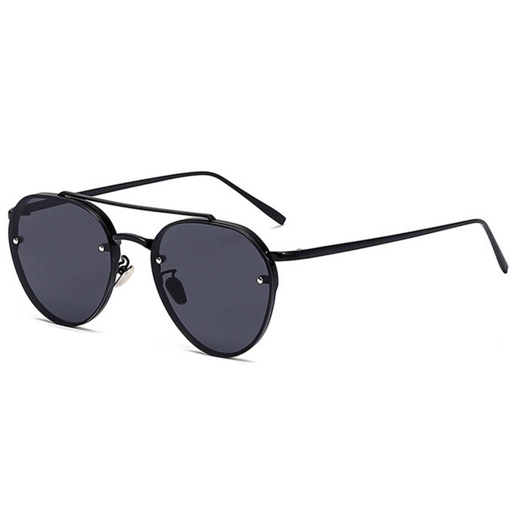 899780b0ed4 Sunglasses 86025 C1 Women s Metal Fashion Aviator Black Frame Smoke Lens