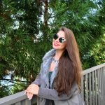 Sunglasses 86026 C2 Women's Metal Fashion Black/Silver Frame Silver Lens
