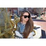 OWL ® Eyewear Sunglasses 86029 C1 Women's Metal Fashion Black Frame Smoke Lens One Pair