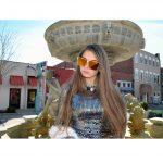 OWL ® Eyewear Sunglasses 86029 C3 Women's Metal Fashion Black/Gold Frame Brown Mirror Lens One Pair