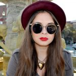 Women Metal Sunglasses Round Fashion Gold Frame Smoke Lens