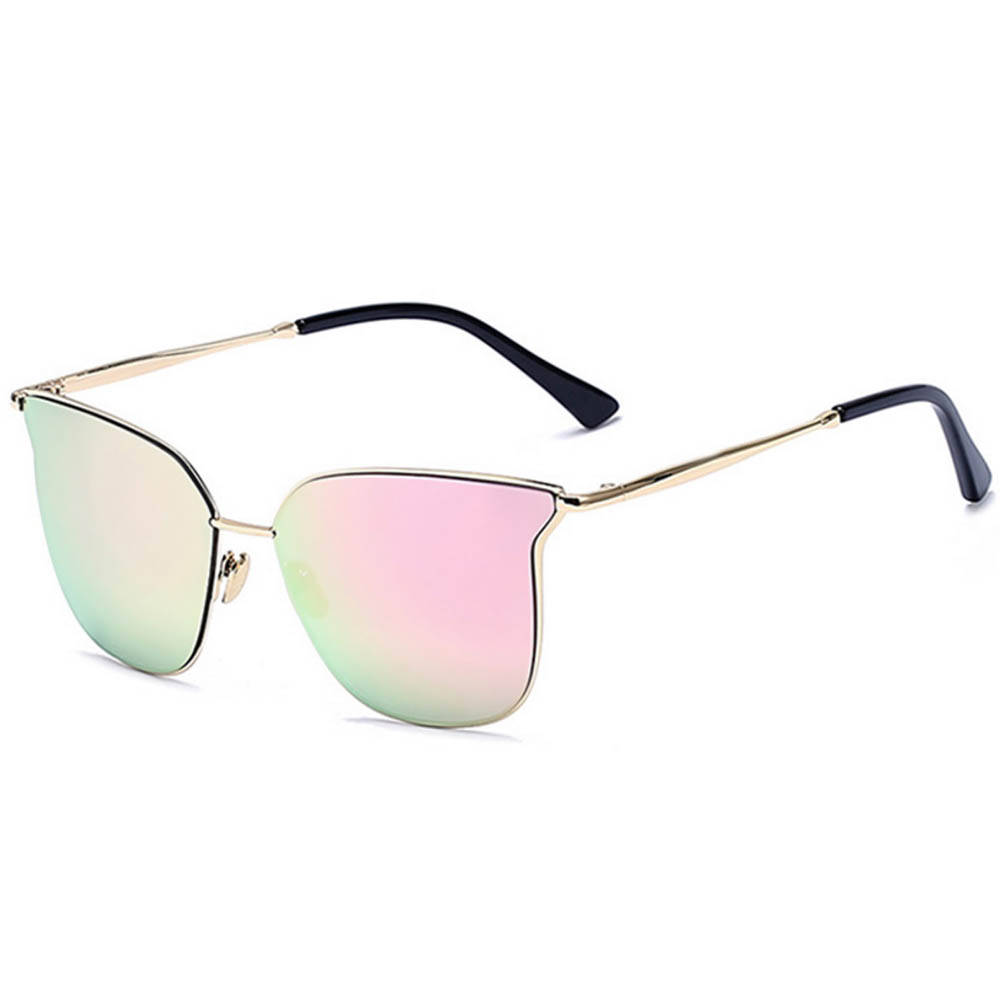 Women Metal Sunglasses Fashion Gold Frame Fire Mirror Lens