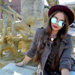 Women Metal Sunglasses Round Fashion Silver Frame Blue Mirror Lens