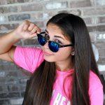 Half Frame Sunglasses Black/Silver Frame Blue Mirror Lens Half Frame Sunglasses Black/Silver Frame Blue Mirror Lens