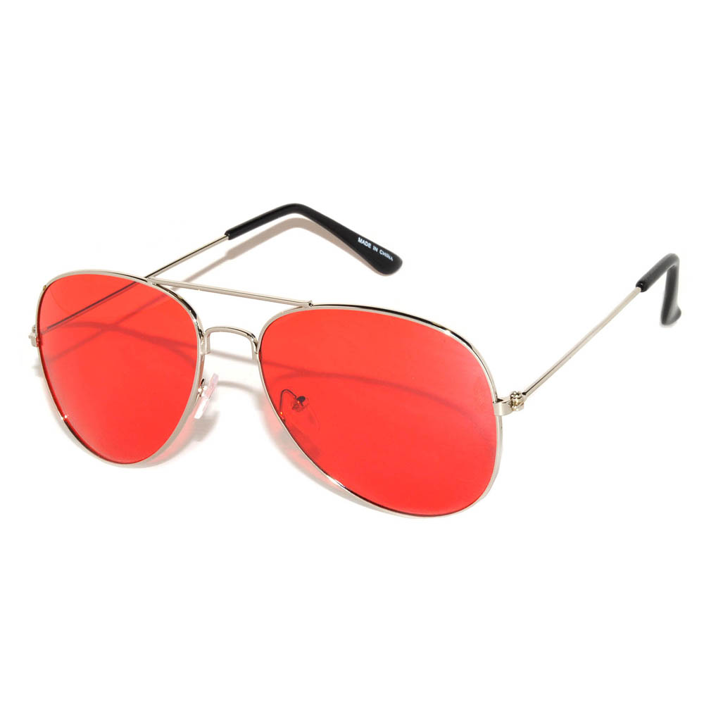 Aviator red lens sunglasses