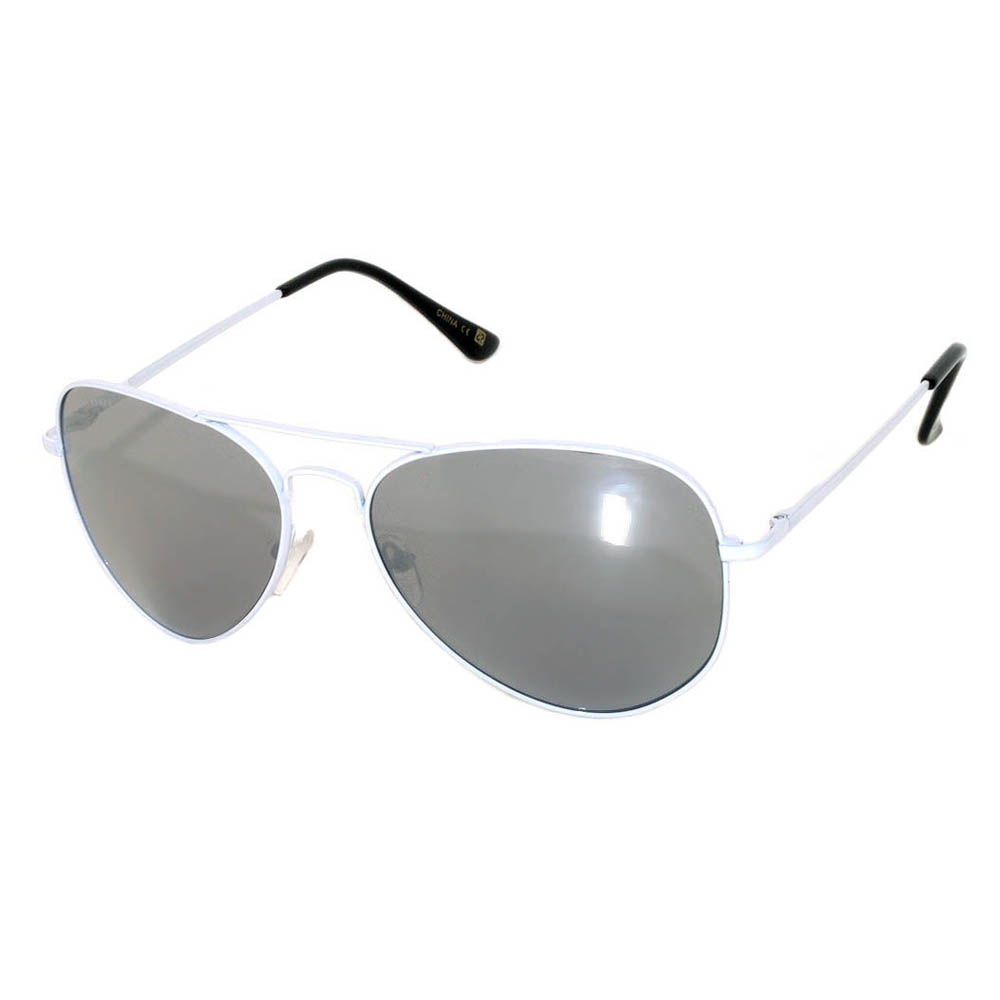 Aviator White Mirror Lens