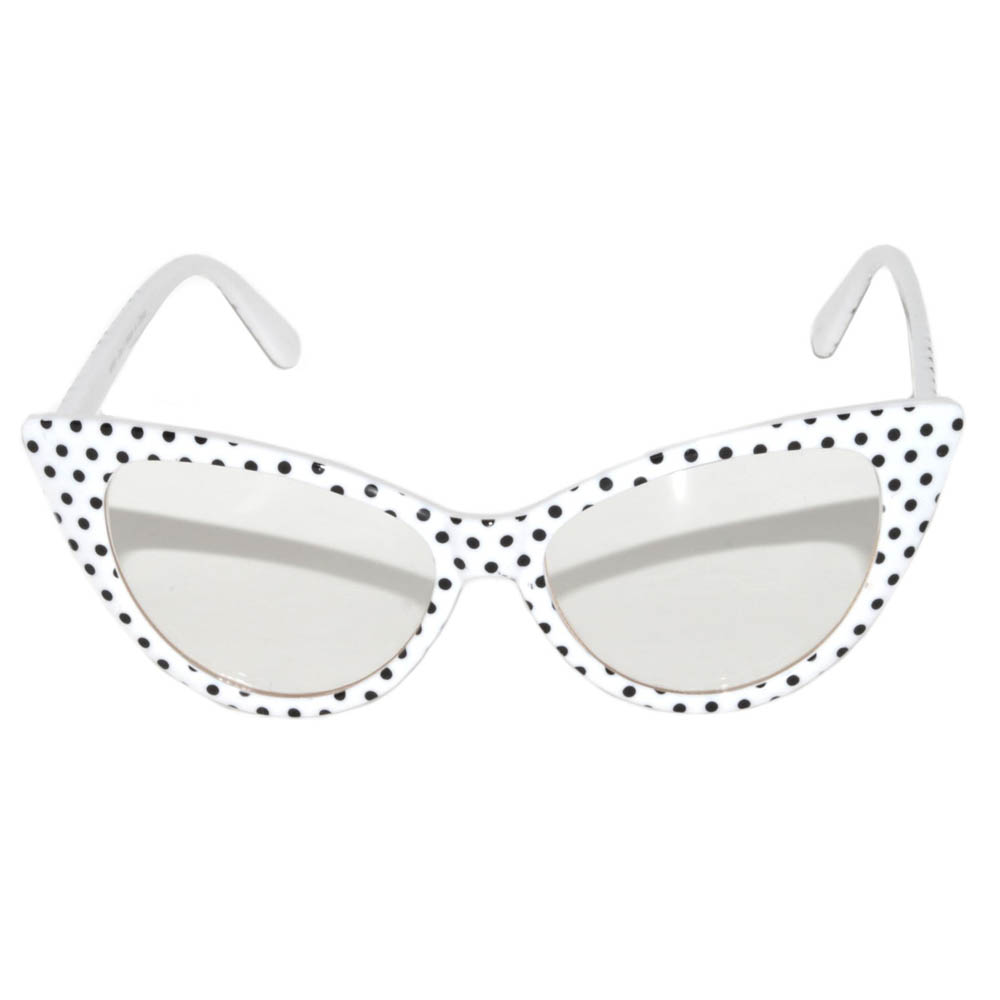 c484dc7bdc OWL ® Eyewear Wholesale Cat Eye Sunglasses White Frame Polka Dots ...