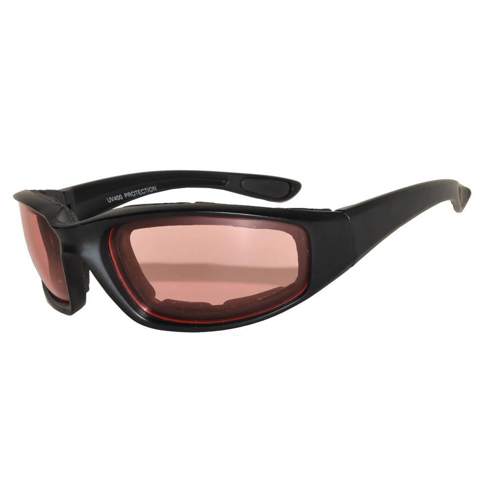 5349b6b92ea OWL ® Eyewear Motorcycle Padded Black Frame Glasses Amber Lens One ...