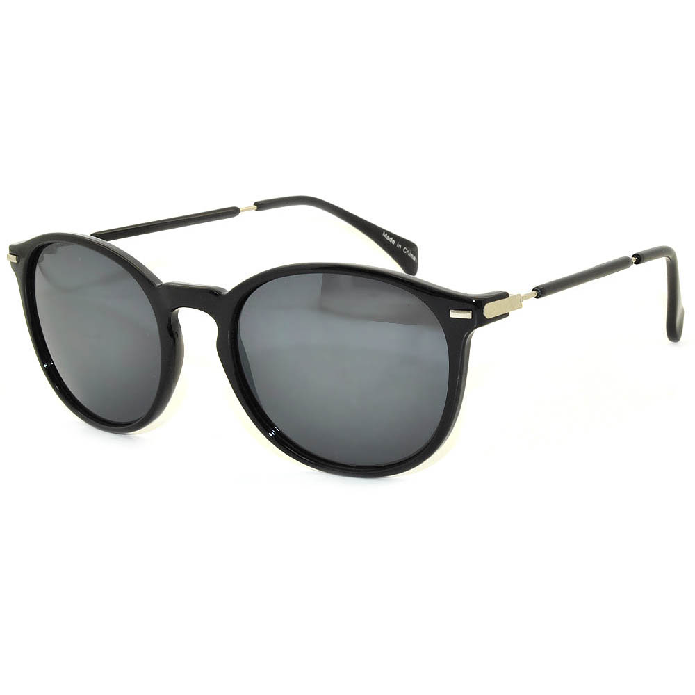 Vintage Round Sunglasses WF01-01Black (12PCS)