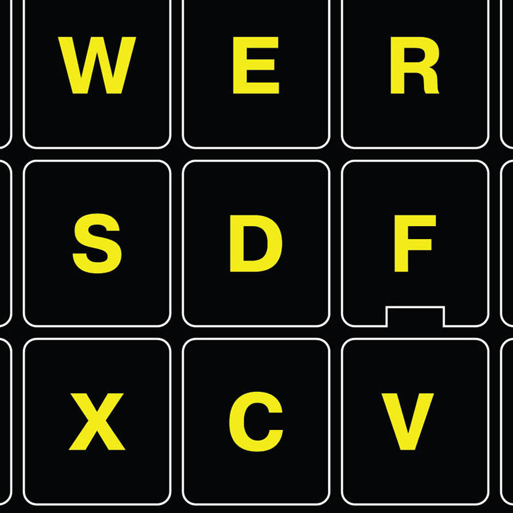 Fluorescent keyboard sticker