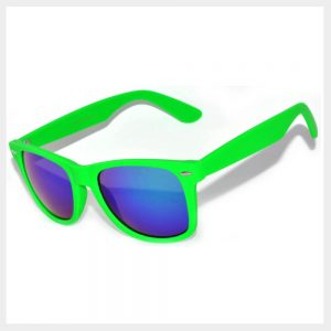 Green Frame Sunglasses