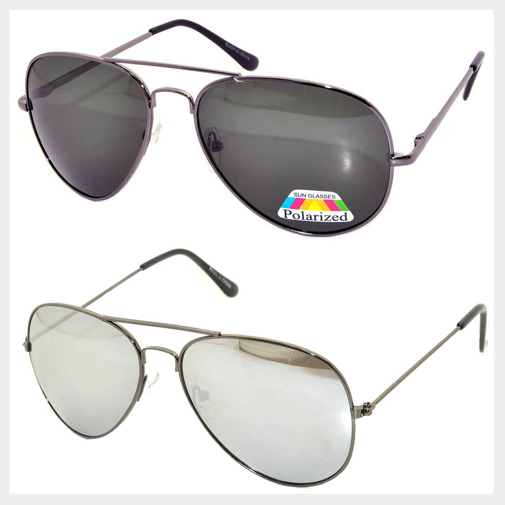 Gun Color Frame Sunglasses Wholesale