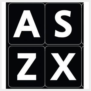 Keyboard Large Letter Stickers