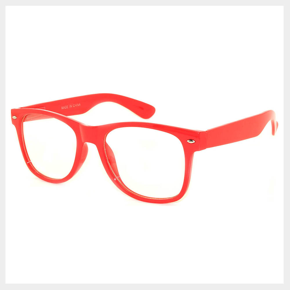 Red Frame Single Sunglasses