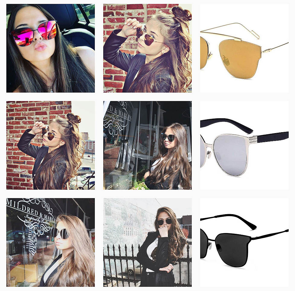 New models of fancy designer sunglasses