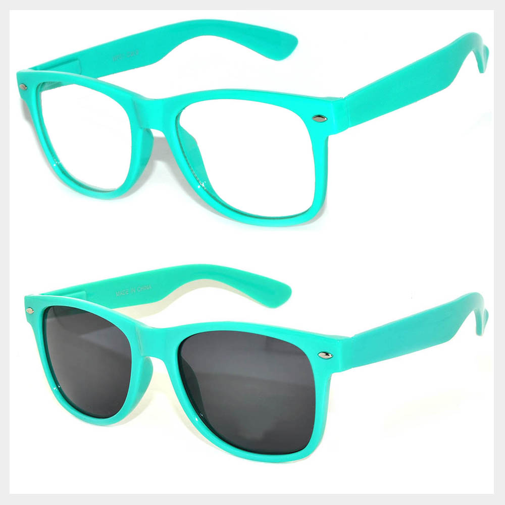 Turquoise Frame Sunglasses Wholesale ( by the Dozen)
